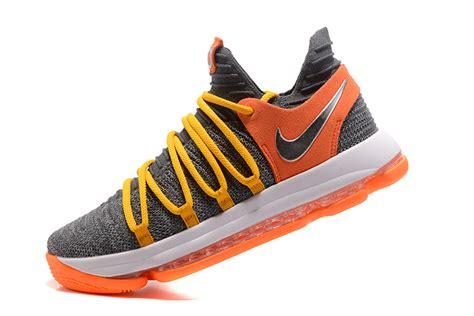 Nike Kd 10 Ep Cool Grey Orange For Sale 2017  New Jordans