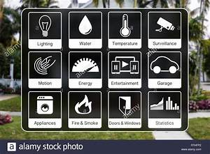 Smart Home Control : home automation icons to control a smart home stock photo 95657242 alamy ~ Watch28wear.com Haus und Dekorationen