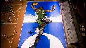 athens artist paints giannis mural on court 39 where