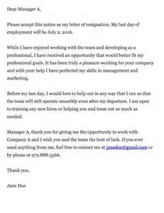 Employment Cover Letter Template Thankful Resignation Letter
