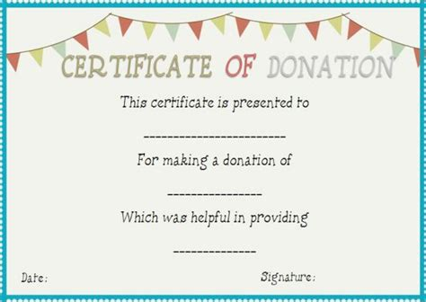 Certificate Of Appreciation For Donation Template by 22 Legitimate Donation Certificate Templates For Your Next