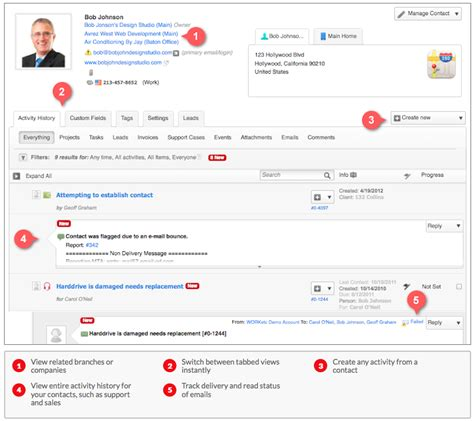 crm contact management projects billing worketc