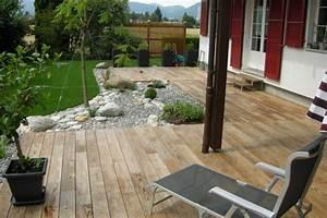 terrasse jardin idee nos conseils With idee de terrasse en bois