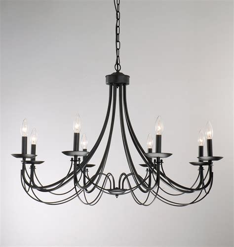 iron 8 light black chandelier shopping entryway and design