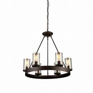 Menlo park light oil rubbed bronze chandelier artcraft