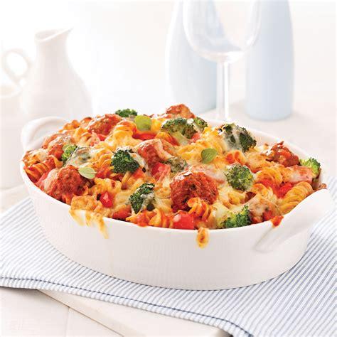 calorie gratin de pate gratin de fusillis aux l 233 gumes et mini boulettes de viande recettes cuisine et nutrition