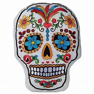 Coussin Tete De Mort : coussin t te de mort mexicaine ~ Teatrodelosmanantiales.com Idées de Décoration