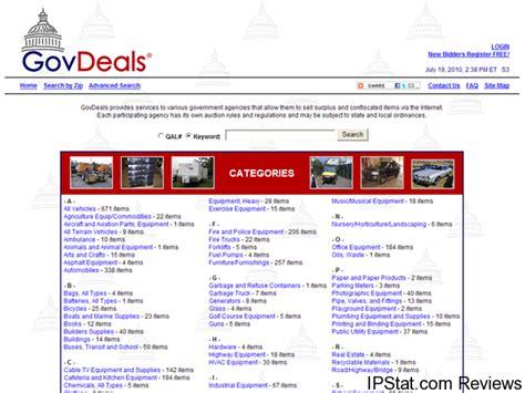 Govdealscom Government Surplus Auctions Ipsatcom