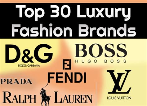 Top 30 Luxury Fashion Brands  Fine High Living