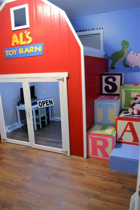 ana white toy story  loft bed diy projects