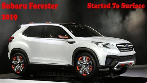 2019 Subaru Forester Started To Surface Youtube