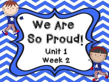 kindergarten reading street    proud unit  week