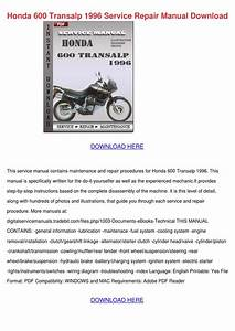 Honda 600 Transalp 1996 Service Repair Manual By Gilbertoedgar