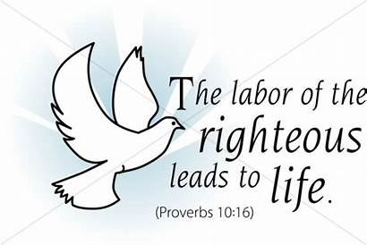 Scripture Labor Word Righteous Blessed Hand Diligent