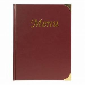 Protege Menu Restaurant : prot ge menus a4 restaurant capacit 10 feuilles a4 couverture simili cuir rouge ~ Teatrodelosmanantiales.com Idées de Décoration