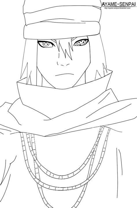 naruto coloring pages sketch coloring page