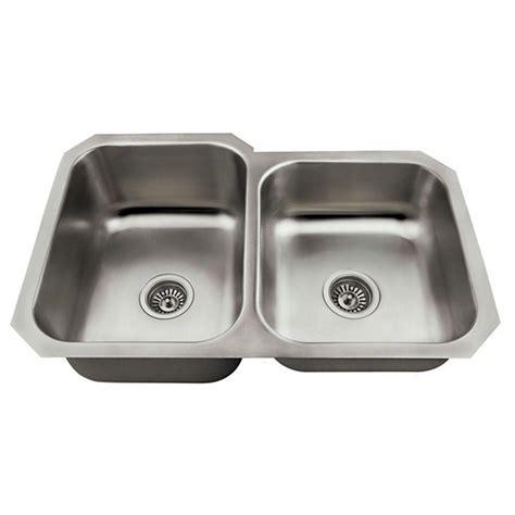 stainless steel undermount kitchen sink double bowl mr direct undermount stainless steel 28 in double bowl
