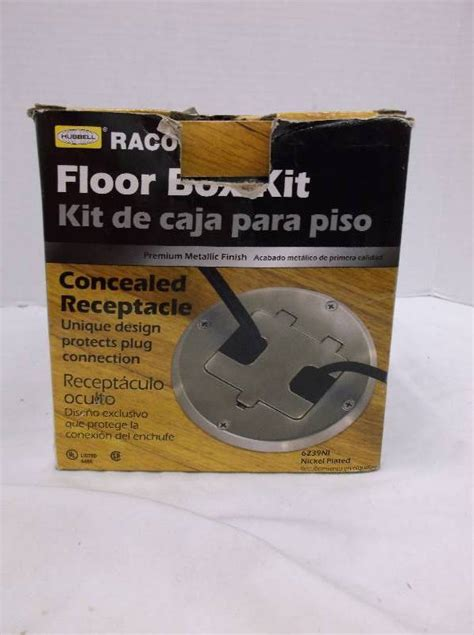 Hubbell Floor Box Kit by Hubbell Raco 6239ni Nickel Plated Concealed Receptacle