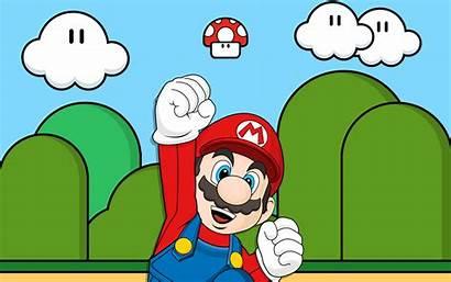 Mario Super Desktop Wallpapers Backgrounds Vector Background