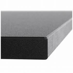 Plateau De Table : plateau de table lea carr en bois stratifi grand mod le 70cmx70cmx2cm noir ~ Teatrodelosmanantiales.com Idées de Décoration