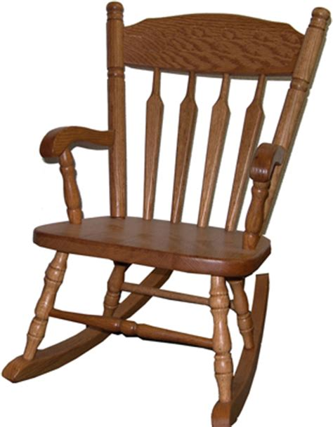 solid hardwood plain child rocking chair