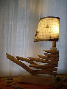 Luminaire En Bois Flotté : luminaire bois flott photo de luminaires et accessoires d co l 39 atelier de claire ~ Teatrodelosmanantiales.com Idées de Décoration