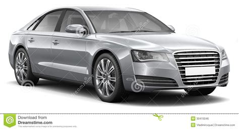 Fourdoor Luxury Sedan Car Royalty Free Stock Image