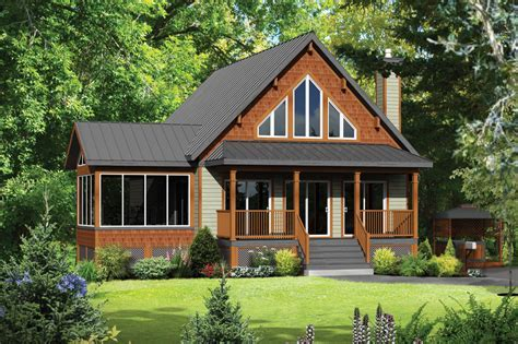 Cabin Style House Plan   4 Beds 1 Baths 1440 Sq/Ft Plan