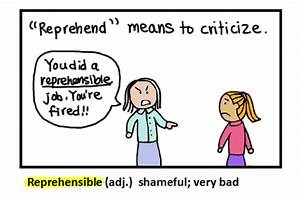 Reprehensible Definition - Flashcard Monkey Dictionary
