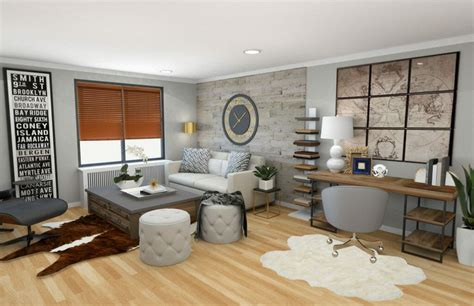Modern Rustic Living Room Design Ideas by Before After Modern Rustic Living Room Design