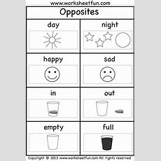 Opposites  2 Worksheets  Free Printable Worksheets Worksheetfun