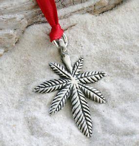 marijuana christmas ornament marijuana pot leaf pewter ornament