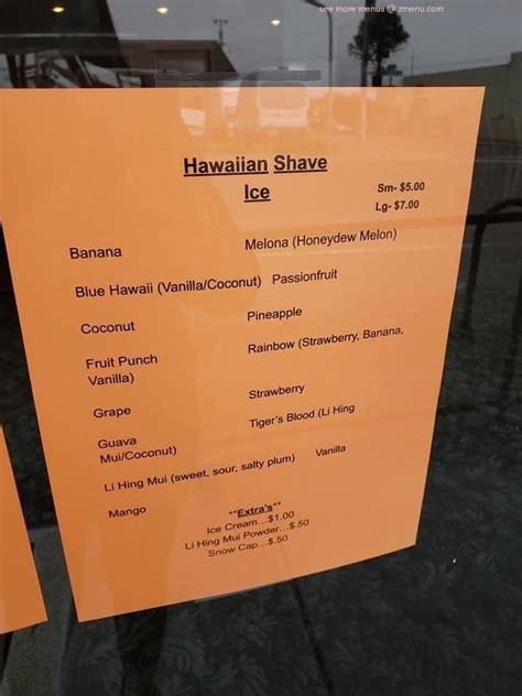 menu  island delight restaurant eureka
