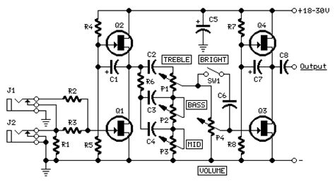 Fender Marshall Preamplifier Diy Electronics Projects