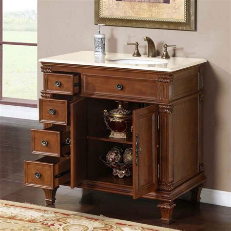 Countertop Bathroom Cabinet by 36 Inch Marble Countertop Right Sink Bathroom Single