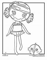 Coloring Pages Lalaloopsy Sea Coral Quill Shells Shell Cartoon Dolls Kangaroo Printable Doll Easy Shotgun Outline Colouring Clipart Template Cartoonjr sketch template