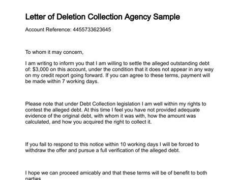 credit dispute letter  collection agency planner