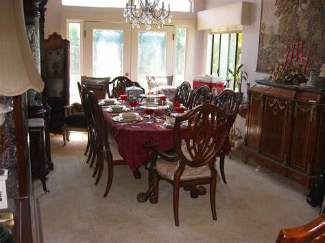 mahogany dining room set neoclassical solid mahogany dining room set for sale antiques com classifieds