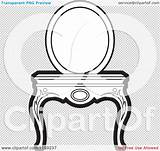 Vanity Mirror Table Clipart Vector Illustration Royalty Transparent Clip Perera Lal Background sketch template