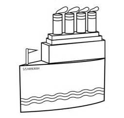 Velas De Barcos Para Colorear by Dibujo De Barco De Hanukkah Con Velas Para Colorear