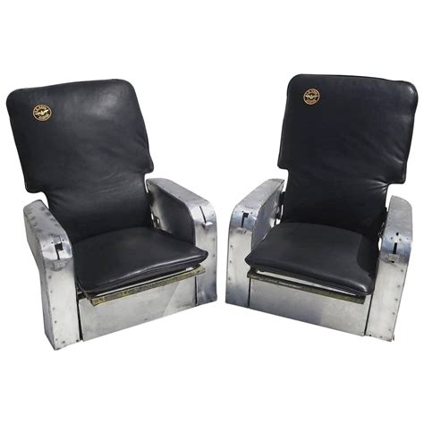 aircraft chairs in leather and aluminum for sale at 1stdibs