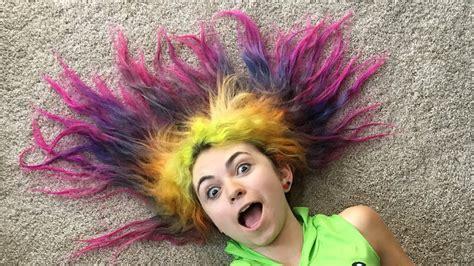 Rainbow Girl Hair Styles 8 Years Of Dyed Hair Youtube