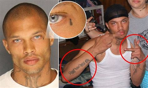 jeremy meeks flattered  attention   mugshot