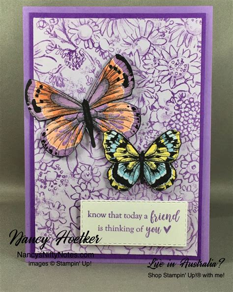 Botanical Butterfly DSP by Stampin' Up #nancysniftynotes