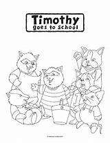 Timothy Goes Coloring Pages sketch template