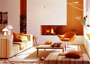Farben Für Wände : wohnen mit farben warme aber frische t ne f rs wohnzimmer sch ner wohnen trendfarbe mango ~ Frokenaadalensverden.com Haus und Dekorationen