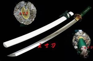 Handmade Japanese Samurai Katana Clay Tempered Sanmai ...