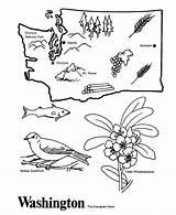 Coloring State Washington Outline Map Printable Printables History Tree California Jojo Siwa Utah Wa Usa Interest Points sketch template