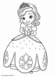 44 Princess Sophia Coloring Pages Sofia The First