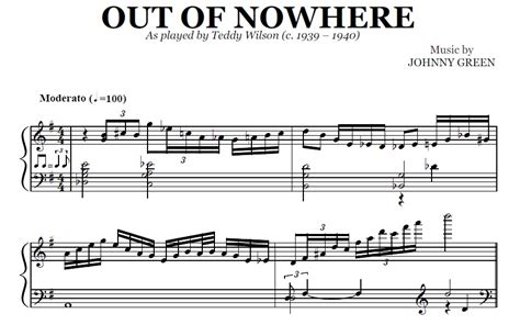 Out Of Nowhere (pdf), By Teddy Wilson